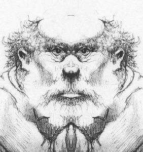 2003 - Peggy Guest_03 butcher sketch mirror head