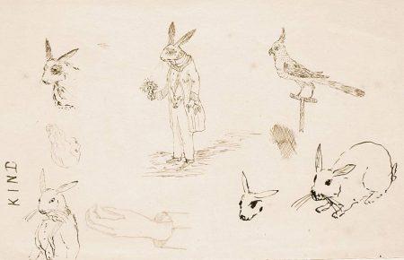 кролик эскиз Кэрролл